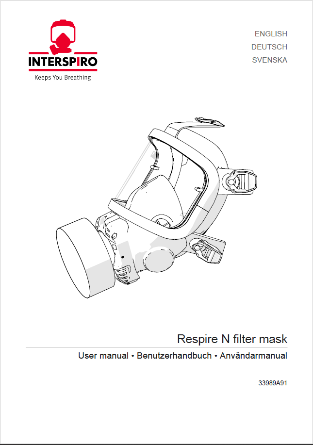 Firefighting user manual: 33989 - Respire N Filter mask
