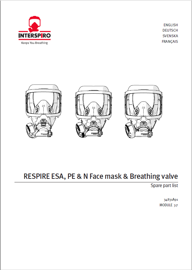 Firefighting - Module 3-7 - Spare parts & Service kits for Respire Face Mask