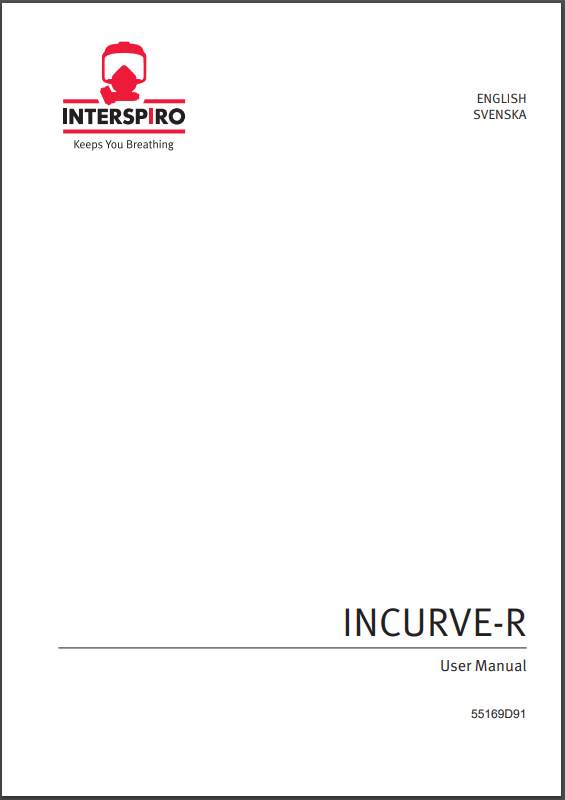 Firefighting user manual: 55169D - Incurve-R user manual